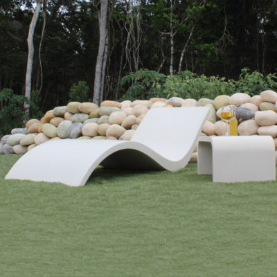Tumbona de concreto polimérico - Taller de Prefabricados